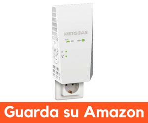 netgear ex7300 miglior ripetitore wifi per casa senza antenne esterne