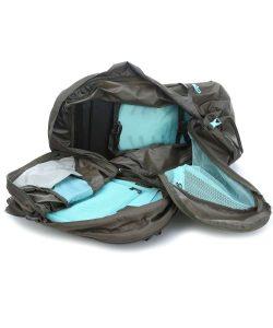 osprey fairview doppio zaino apertura valigia