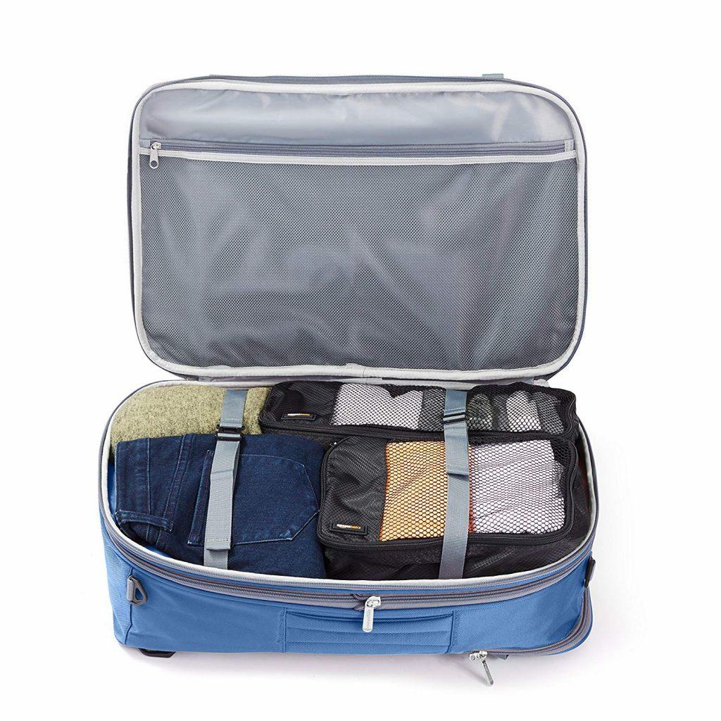 zaino-bagaglio a mano amazon basics apertura a valigia