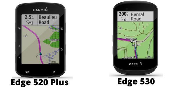 Garmin Edge 520 Plus vs 530